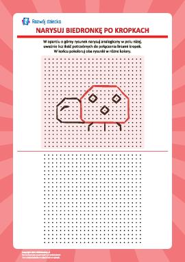 Rysowanie od kropki do kropki: biedronka
