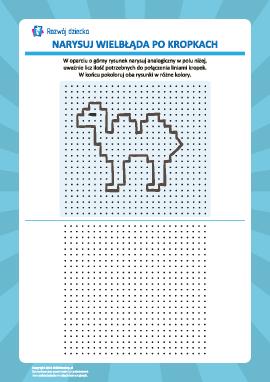 Rysowanie od kropki do kropki: wielbłąd