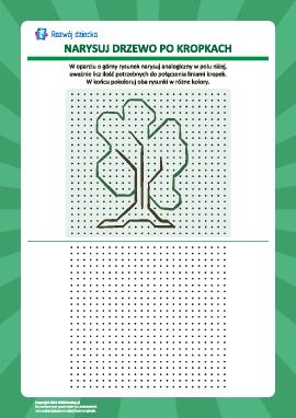 Rysowanie od kropki do kropki: drzewo