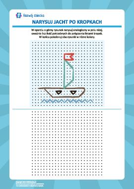Rysowanie od kropki do kropki: łódka