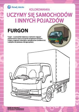 Kolorowanka pojazdów: furgonetka