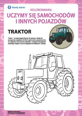 Kolorowanka pojazdów: ciągnik
