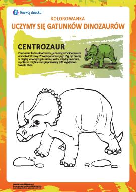 Kolorowanka dinozaury: centrozaur