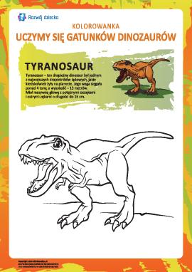 Kolorowanka dinozaury: tyranozaur