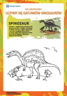 Kolorowanka dinozaury: spinozaur