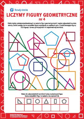Liczymy figury geometryczne nr 4