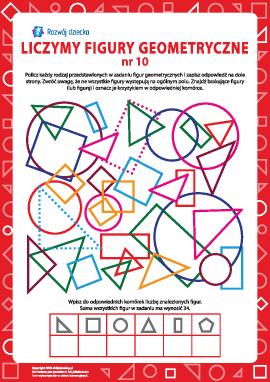 Liczymy figury geometryczne nr 10