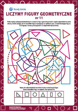 Liczymy figury geometryczne nr 11