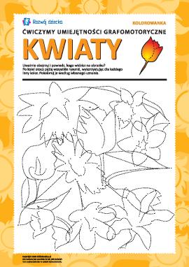 Umiejętności grafomotoryczne: kwiaty nr 1