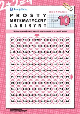 """Labirynt matematyczny: suma """"10"""""""