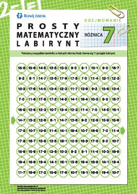 """Labirynt matematyczny: różnica """"7"""""""