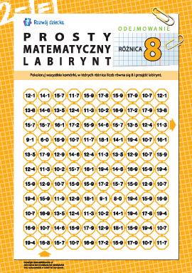 """Labirynt matematyczny: różnica """"8"""""""