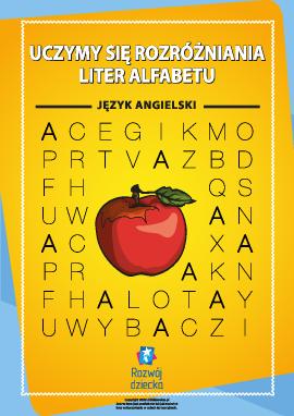 Rozróżniamy litery alfabetu angielskiego