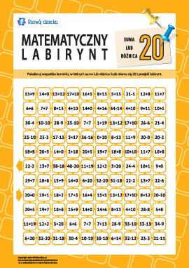 """Labirynt: suma albo różnica """"20"""""""