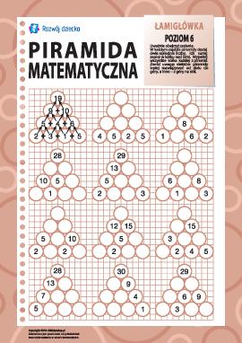 Piramida matematyczna: poziom 6