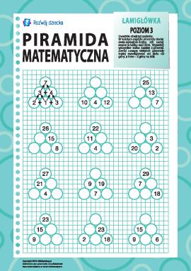 Piramida matematyczna: poziom 3
