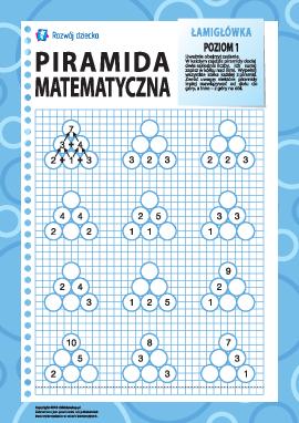 Piramida matematyczna: poziom 1