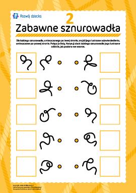 Zabawne sznurki: znajdź parę nr 2