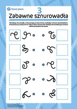 Zabawne sznurki: znajdź parę nr 3