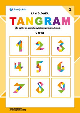 "Łamigłówka ""Tangram"" nr 1: cyfry"