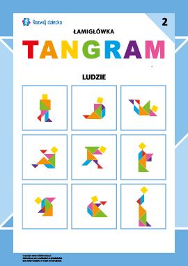 """Łamigłówka """"Tangram"""" nr 2: ludzie"""