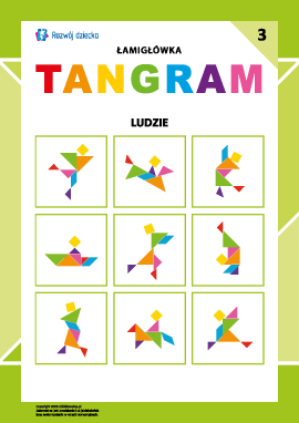 """Łamigłówka """"Tangram"""" nr 3: ludzie"""
