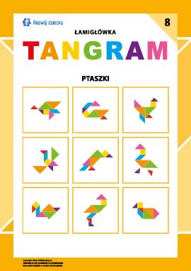 "Łamigłówka ""Tangram"" nr 8: ptaszki"