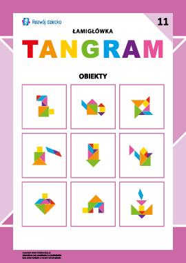 """Łamigłówka """"Tangram"""" nr 11: obiekty"""