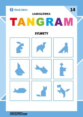 "Łamigłówka ""Tangram"" nr 14: sylwetki"