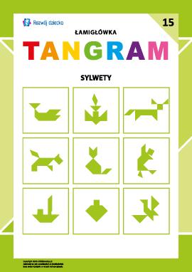 "Łamigłówka ""Tangram"" nr 15: sylwetki"