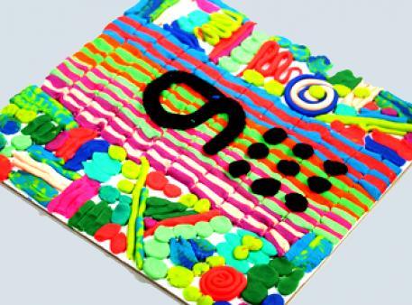 """Panneau plastelinowe na temat """"Uczymy się cyfr"""""""