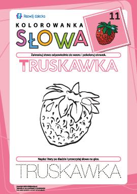 "Kolorowanka ""Słowa"" nr 11 (truskawka)"