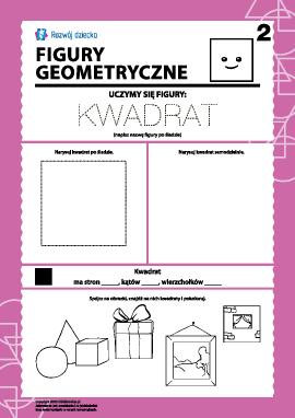 Figury geometryczne: badamy kwadrat