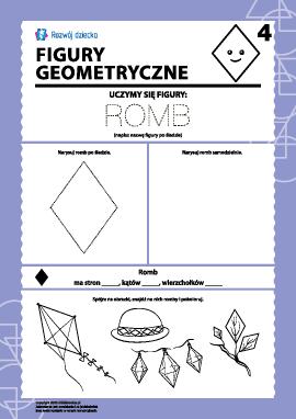 Figury geometryczne: badamy romb