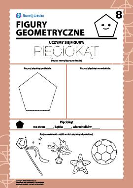 Figury geometryczne: badamy pięciokąt