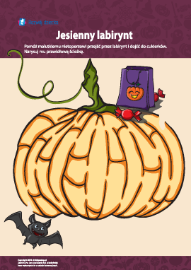 Jesienny labirynt z okazji Halloweenu