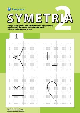 Poznajemy symetrię zgodnie z punktami nr 1