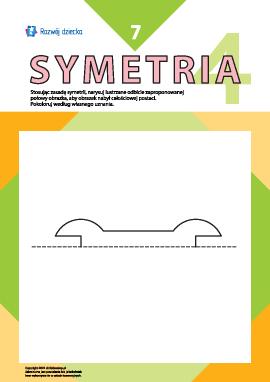 Uczymy się rysować symetrycznie nr 7