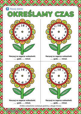 Uczymy się określania czasu za pomocą zegarka