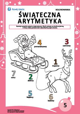 """Kolorowanka """"Arytmetyka noworoczna"""" nr5"""