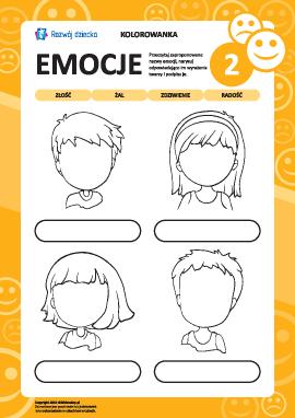 Rozpoznajemy emocje na podstawie wyrazu twarzy nr 2