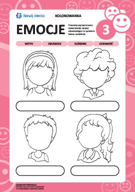 Rozpoznajemy emocje na podstawie wyrazu twarzy nr 3