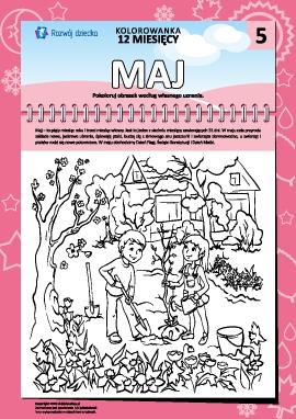 """Kolorowanka """"12 miesięcy"""": maj"""
