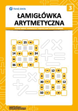 Łamigłówka arytmetyczna nr 3