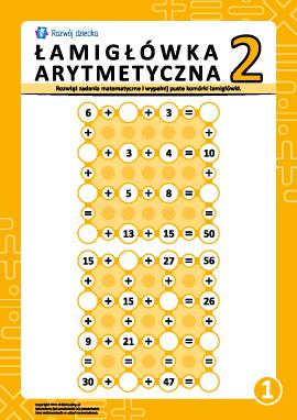 Łamigłówki arytmetyczne nr 1
