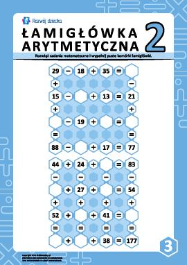 Łamigłówki arytmetyczne nr 3