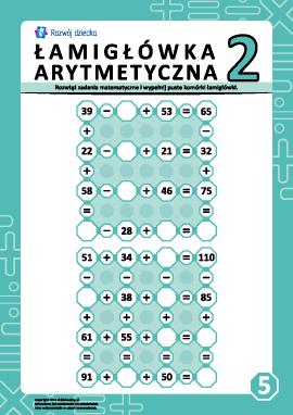 Łamigłówki arytmetyczne nr 5