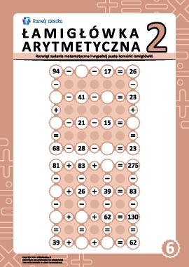 Łamigłówki arytmetyczne nr 6