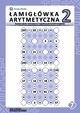 Łamigłówki arytmetyczne nr 7
