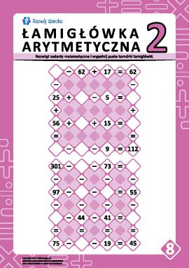 Łamigłówki arytmetyczne nr 8